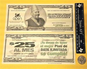 $25 Credit OPEN MOBILE PUERTO RICO Cell Phone Campaign Add 2017 billete agotado