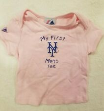 Majestic New York Mets Baby Girl My First Mets Tee T-shirt- 24 months