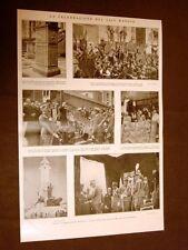 Celebrazione del 24 maggio nel 1928 A Venezia, Zara, Roma col Duce e Piacenza