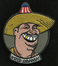 VOTE OBAMA! Tactical Humor Combat Badge HOOK & LOOP Biker Military Morale Patch