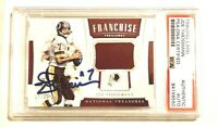 JOE THEISMANN Signed Panini National Treasures G/U Jersey Card #17/99 PSA