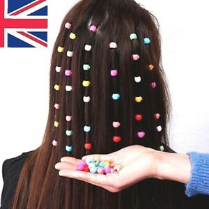 Mini Plastic Hair Claw Clips Grips For Womens Girls Candy Colour Beads Headwear
