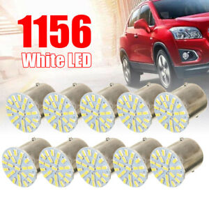 10pcs 1156 BA15S 1206 22SMD LED Car Backup Reverse Turn Signal Light Lamp White
