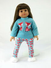 """Fox Pajama Pant Set Fits 18"""" American Boy Or Girl Doll Clothes"""