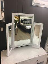 Blitz Tri-Fold White Dressing Table Vanity Mirror Bedroom Glitzy Sparkle Glitter