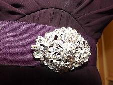 Diamante rhinestone clear, brooch,bridal,bridesmaid,evening,prom (037)