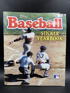 1984 Topps Baseball Sticker Album w/ Complete 386 Sticker Set