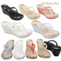 Women's Flip Flops Flower Platform Summer Thong Sandal Wedge Heel 7 colors Shoes