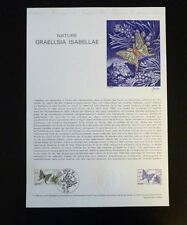 FRANCE MUSEE POSTAL FDC 17-80   PAPILLON GRAELLSIA ISABELLAE  1,10F   GAP   1980