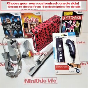 Wii console Girls Dancing games Bundle =Choose your own customised vinyl skin!