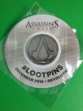 ASSASSIN'S CREED REVOLUTION DECEMBER 2016 LOOT CRATE BUTTON PINBACK PIN NEW