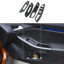 Carbon fiber color Door Window Lift Button Panel armrest Cover For Ford Focus