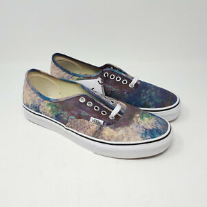 Vans Authentic MoMA Claude Monet Shoe Sneaker Water Lilies Canvas Men's Size 9.5