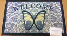 """KITCHEN ACCENT RUG (nonskid) (17"""" x 28"""") BUTTERFLIES, WELCOME by EE"""