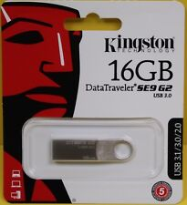 NEW Kingston 16GB DataTraveler SE9 G2 USB 3.0 Flash Drive DTSE9G2/16GB AUTHENTIC
