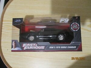 JADA FAST AND FURIOUS 1/32 DOM'S 1970 DODGE CHARGER NEW BOXED