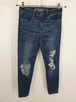 American Eagle Outfitters Womens Blue Super Stretch Skinny Denim Jeans Size 4