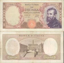 10.000 LIRE MICHELANGELO DEC.20/05/1966  BB + NON TRATTATA