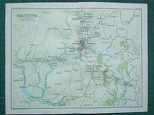1893 India IMPERO mappa ~ Calcutta DINTORNI ~ howrah PORTA CONSERVE