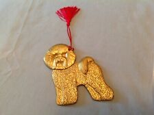 Bichon Frise X-mas ornament, gold