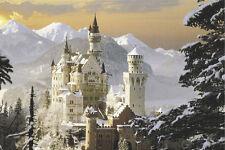 TRAVEL POSTER Schloss Neuschwanstein