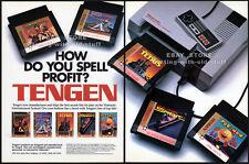 TENGEN / NINTENDO System__Original 1989 Trade AD game promo__INDUSTRY ONLY_NES
