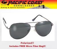 Aviator Sunglasses Aviators Gunmetal Frame Polarized Grey Lens Girls Ladies