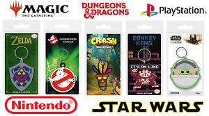 Official Keyrings   Video Game, Book & Film   Nintendo Star Wars MTG D&D PS1