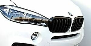 Kidney Grille Set Black Genuine BMW X5 X6 M Perf F16 F15 51712334708 51712334710