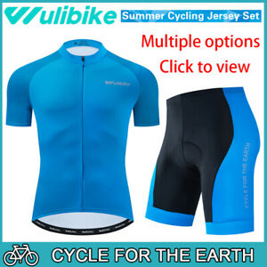 Mens Cycling Jersey & Bib Short Set Cycling Jersey Cycling Short Sleeve Shorts