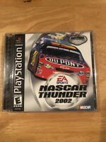 NASCAR Thunder 2002 Playstation PS1 Video Game Complete, Case Has Damage.