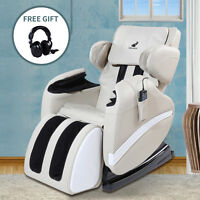Deluxe Full Body Shiatsu Electric Massage Chair Recliner ZERO Gravity with Heat