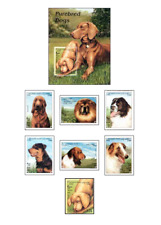 AFG98032 Dogs 6 + block + stamp from the block