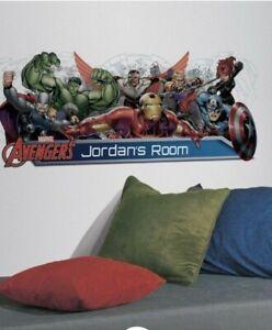 RoomMates Avengers Assemble Personalization Headboard Peel and Stick Wall Dec...