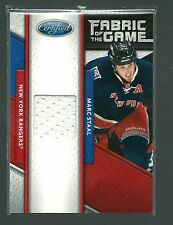 2011/12 CERTIFIED MARC STAAL FABRIC OF THE GAME JERSEY #ED58/399