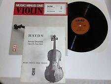 MUSIC MINUS ONE VIOLIN 501LP HADYN STRING QUARTETS, NOS 1 & 2 MMO VG++