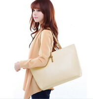 New Designer Large Womens Leather Style Tote Shoulder Bag Handbag Ladies LN