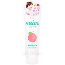 Kracie Japan naive Peach 2-in-1 Facial Cleansing Foam + Makeup Cleanser S 200g