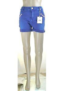 Jeans Pantaloni Corti Donna Shorts ATOS LOMBARDINI Pantaloncini LU450 Blu Tg 26