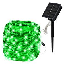 10m 100 LED Outdoor Solar Copper String  Lights Garland Party Garden Waterproof
