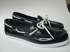 COLE HAAN Womens Navy Patent Leather Loafer Deck Boat SHOES Size 7.5 NEW