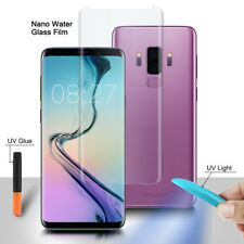 New For Galaxy S10 10e 9 8 Plus Note 8 UV Glue 3D Curved Liquid Tempered Glass