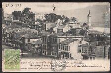2399 TURKEY TO CHILE RARE POSTCARD 1903 IZMIDT - VALDIVIA