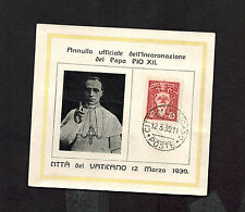 1939 Vatican cover Commemoration of Coronation of Pope Pius 12