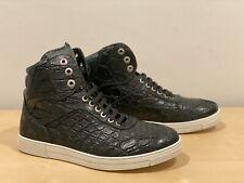 Salvatore Ferragamo Dark Green Crocodile Sneakers 8 - EE - NEW (Nick)