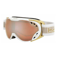 Bolle Duchess Waterproof Womens Snow Ski and Snowboard Goggles, White & Gold