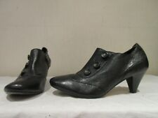 CLARKS BLACK LEATHER ZIP UP ANKLE BOOTS SHOE BOOTIES UK 7 EU 40 (3336)