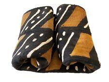 "Superb African Bogolan Mud Cloth Textile 62 "" by 39 """
