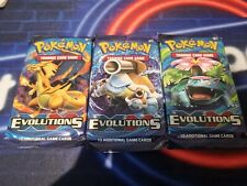 Pokémon XY Evolutions sealed Booster Packs (lot Of 3)