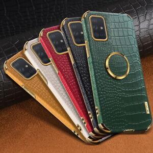 Für Samsung S21 Ultra S20 Note 20 A72 A52 Krokodilleder Texturhalter Schutzhülle